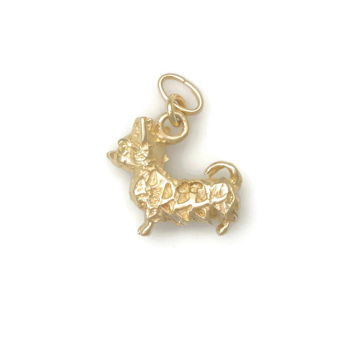 Donna Pizarro Designs 14kt Yellow Gold Chihuahua Charm
