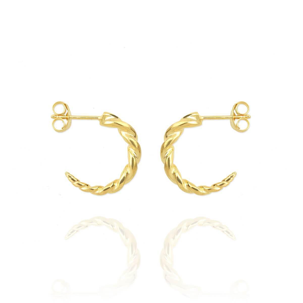 Jana Reinhardt Yellow Gold Plated Leaf Stud Earrings 7DKtLTzx
