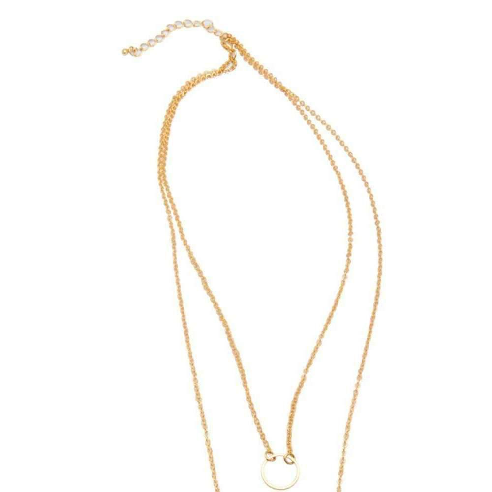 Nialaya Skyfall Gold Loop Necklace 5k9F5B9NXS
