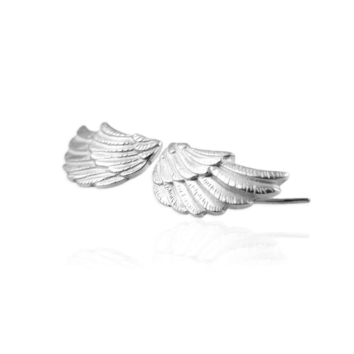 Jana Reinhardt Sterling Silver Leaf Stud Earrings YIECAW