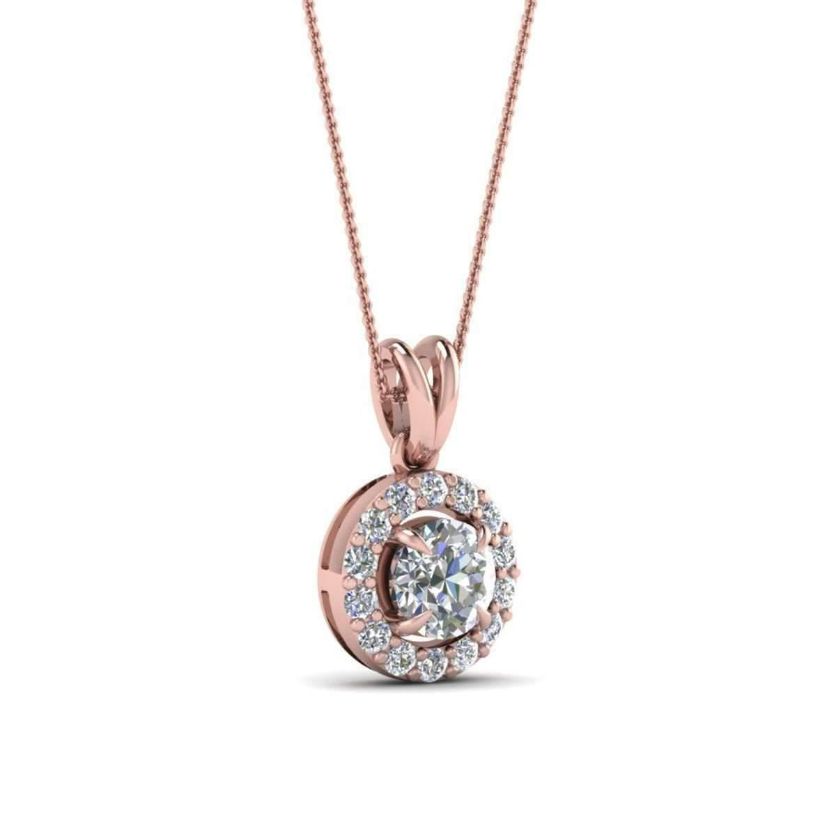 Diamoire Jewels Swarovski Zirconia Pendant in 10Kt White Gold VMhHIt