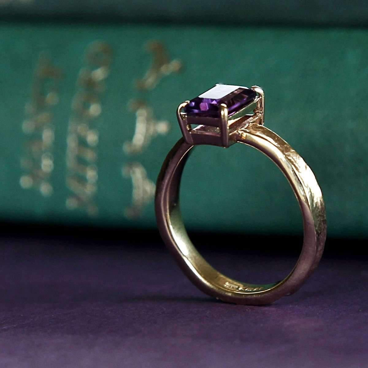6df10254ac2027 Alison Moore Designs Guinevere Solid Gold Amethyst Ring in Metallic ...