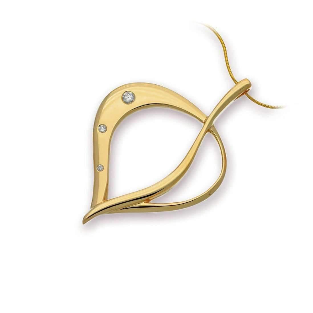 Ortak Leah Shadow Gold Earrings with Diamonds c3gI5dx