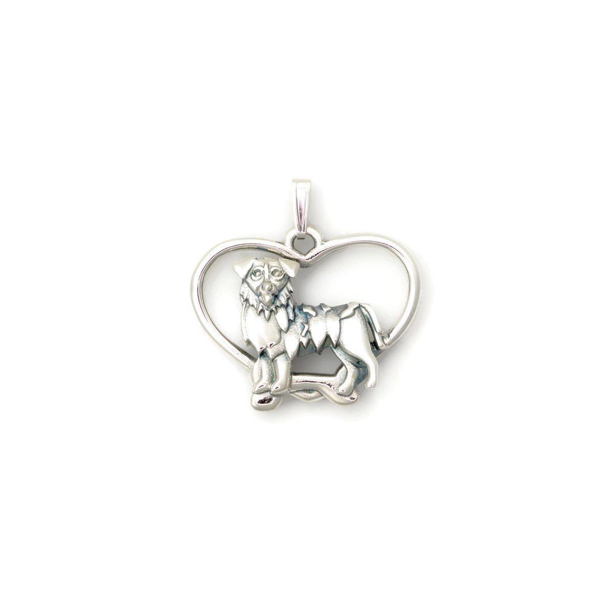 Donna Pizarro Designs Sterling Silver Australian Shepherd Necklace 4YUna