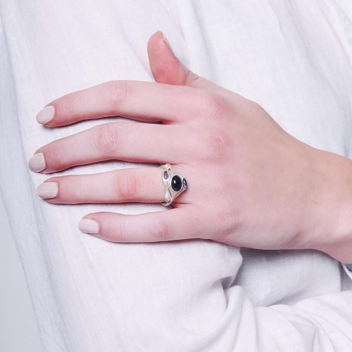 Mamm + Myrgh Goldsmiths Triple Pod Ring With Iolite - Lyst
