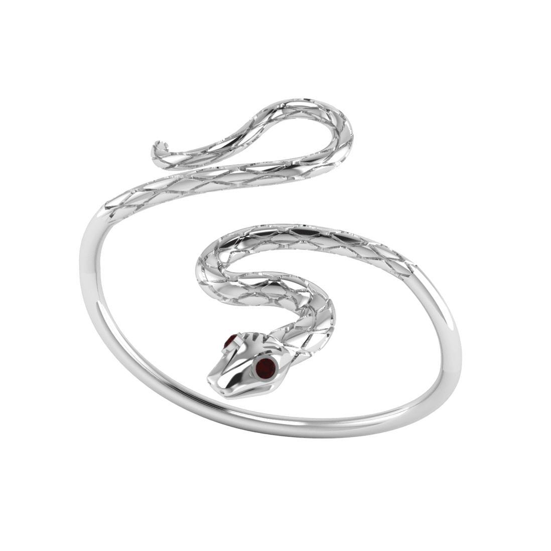 London Road Jewellery Kew Serpent Yellow Gold Ruby Bangle 16Hjs5