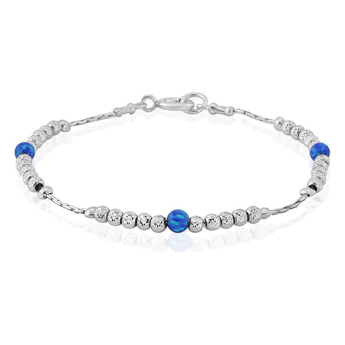Lavan Sterling Silver & Blue Opal Bracelet - Medium oR3dBmZP9