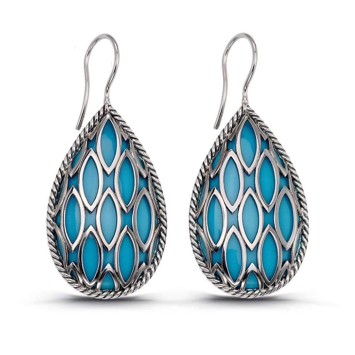 666595238 Lyst - Hera Pear Drop Theya Earrings in Blue