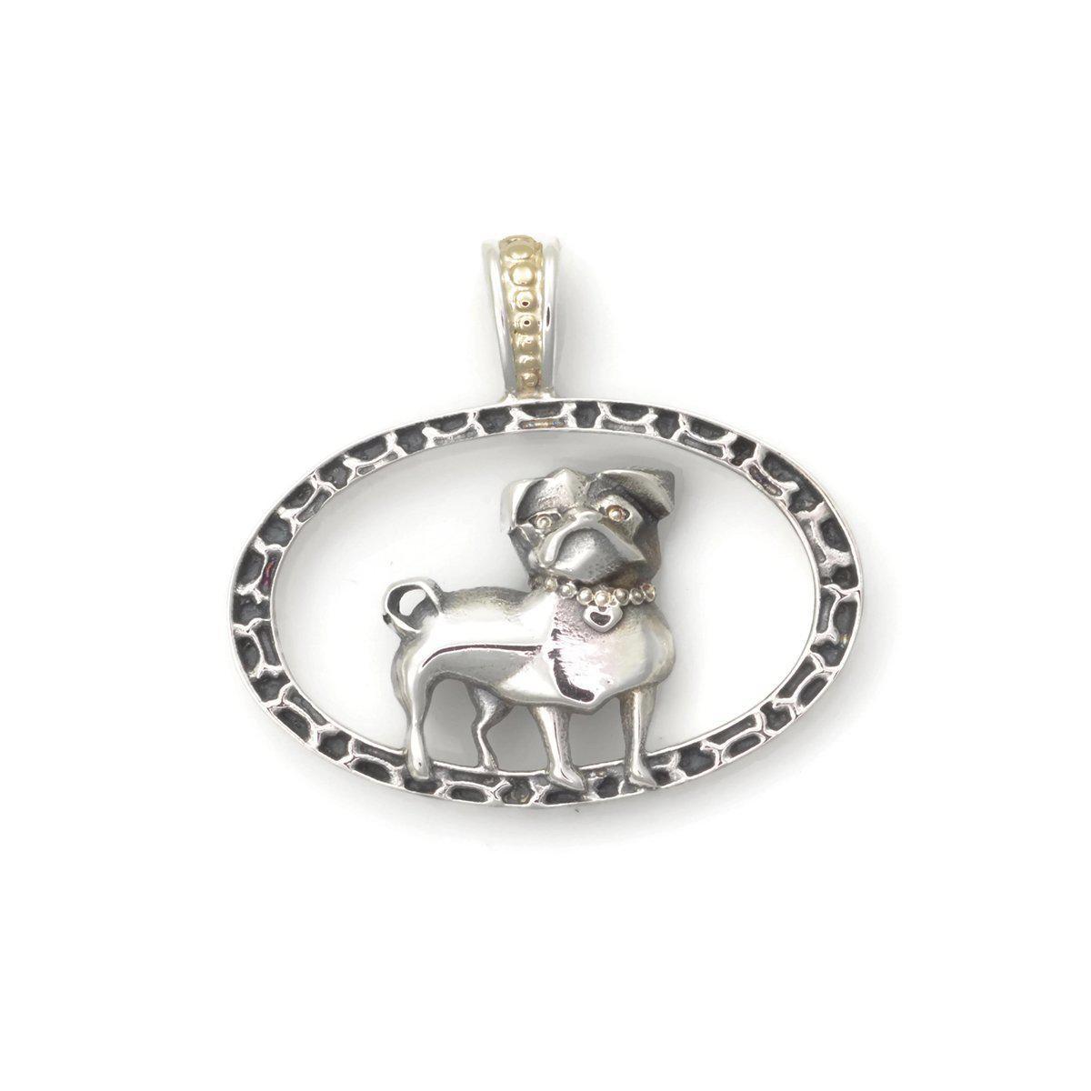 Donna Pizarro Designs Sterling Silver Pug Necklace - Girl PcYGXI