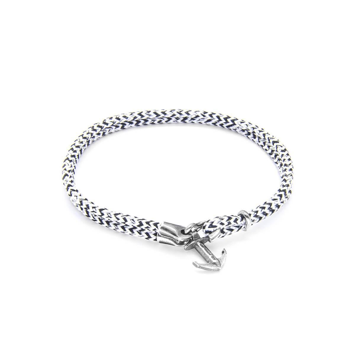 Anchor & Crew Blue Noir Brighton Silver And Rope Bracelet - 19cm (most popular) F9GTUG0d