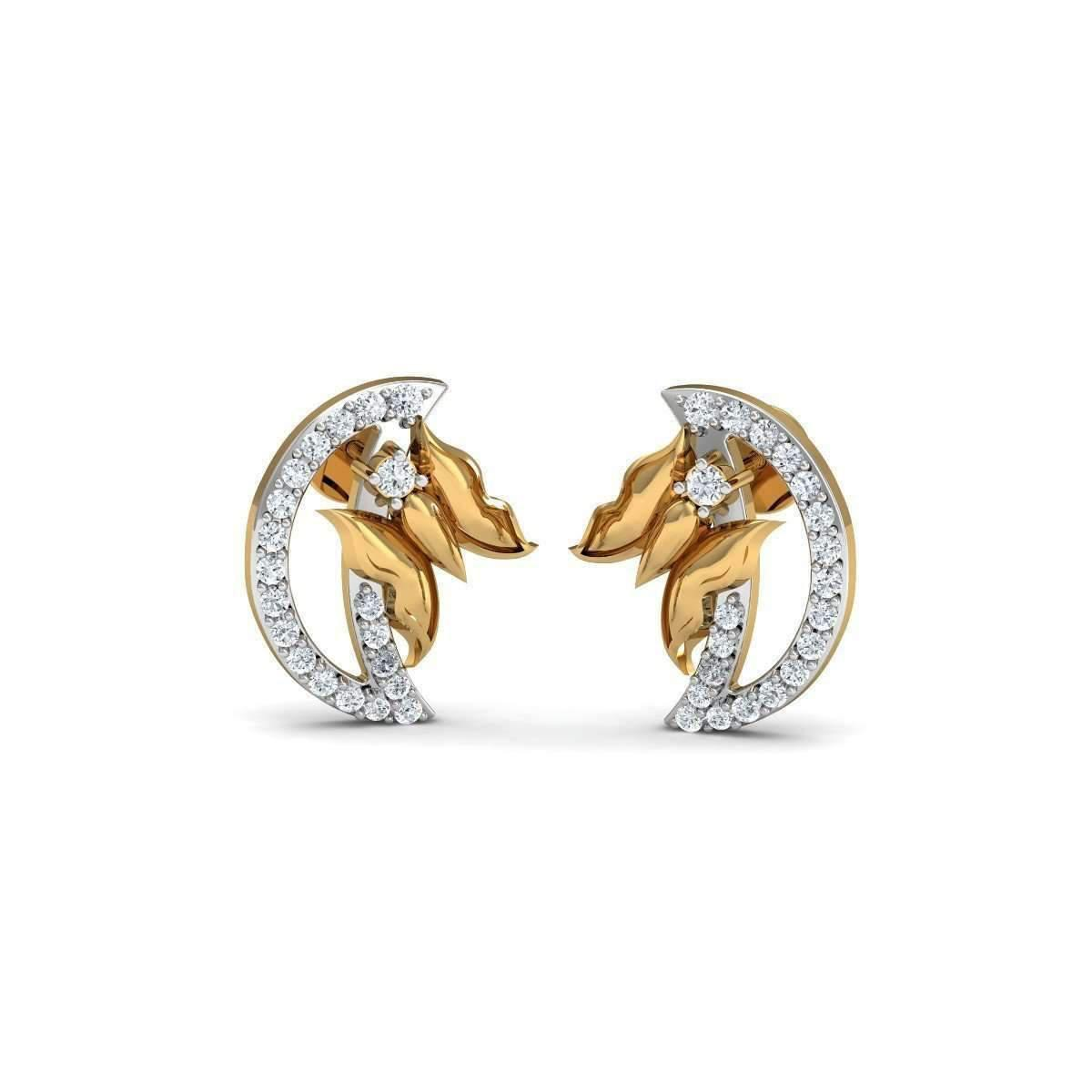 Diamoire Jewels Butterfly Diamond Earrings in 18kt Yellow Gold yEj0XC4X
