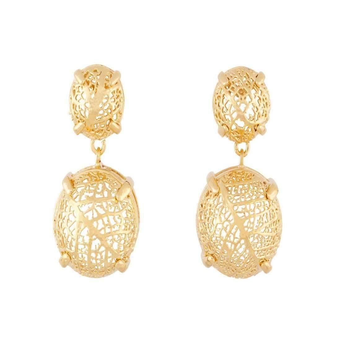 Amazona Secrets 18kt Gold Savannah Box Earring With Claws qYf7jheFq