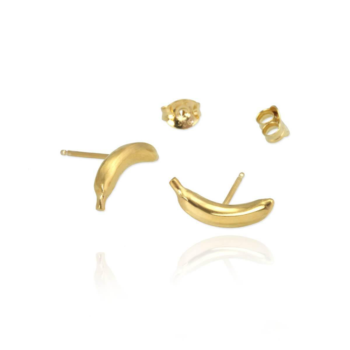 Jana Reinhardt Yellow Gold Plated Banana Stud Earrings UEABt