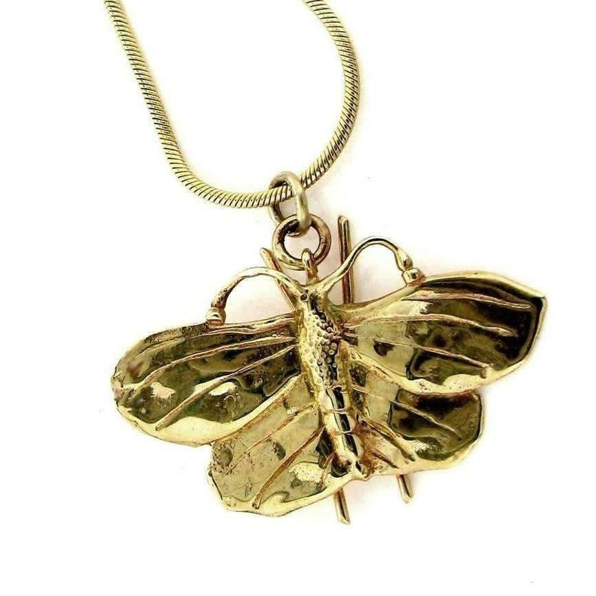 Will Bishop Gold Butterfly Necklace - 45cm
