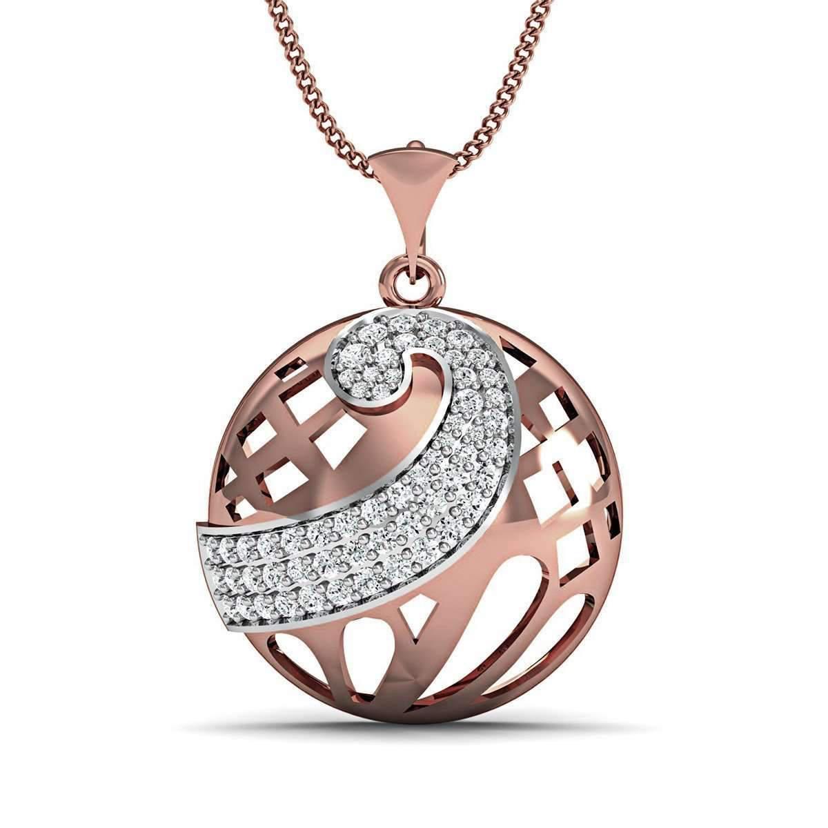 Diamoire Jewels 18kt Rose Gold Diamond Pave Pendant atpBbOIqm