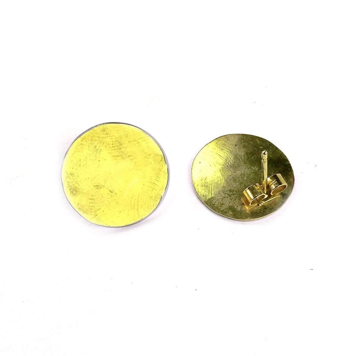 Fran Regan Jewellery Small Vermeil Discus Studs Euyi2
