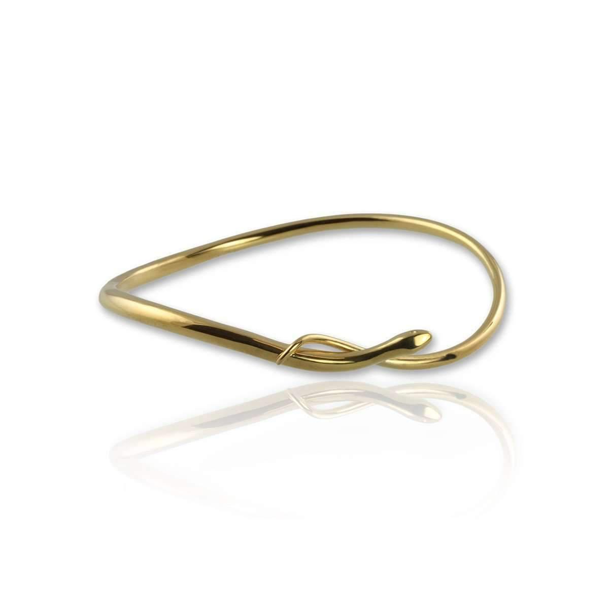 Jana Reinhardt Gold Plated Silver Snake Bangle With Black Diamonds