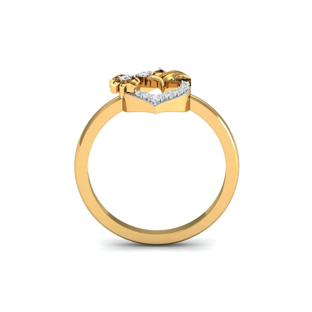 Diamoire Jewels 18kt Yellow Gold Pave 0.10ct Diamond Infinity Ring - UK G 1/4 - US 3 1/2 - EU 45 3/4 ybogk