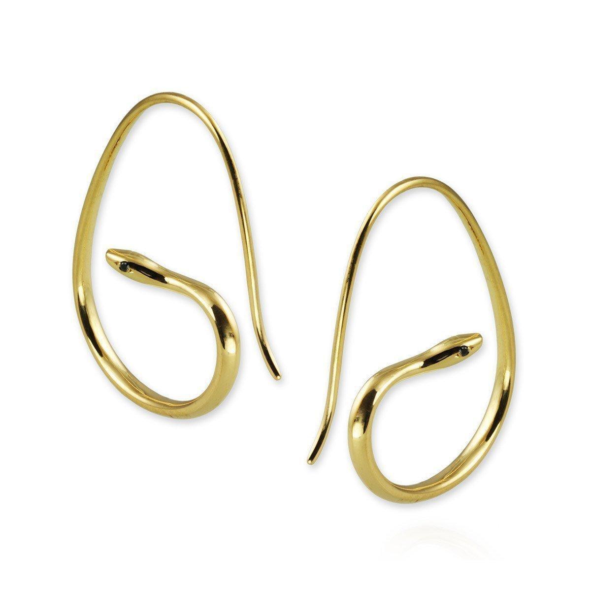 Jana Reinhardt Yellow Gold Plated Unicorn Hoop Earrings iZmtt