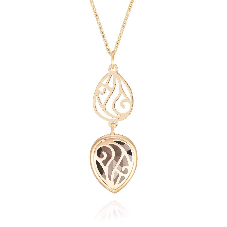 Perle de lune Shanaya Amethyst Double Drop Necklace XtqaR