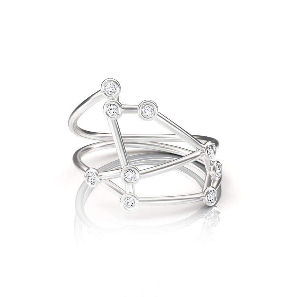 Jessie V E White Gold Scorpio Ring 8F8dU38C