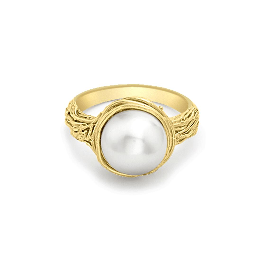 London Road Jewellery Burlington Yellow Gold Pearl Ring - UK L - US 5 1/2 - EU 51 3/4 aJVEis4