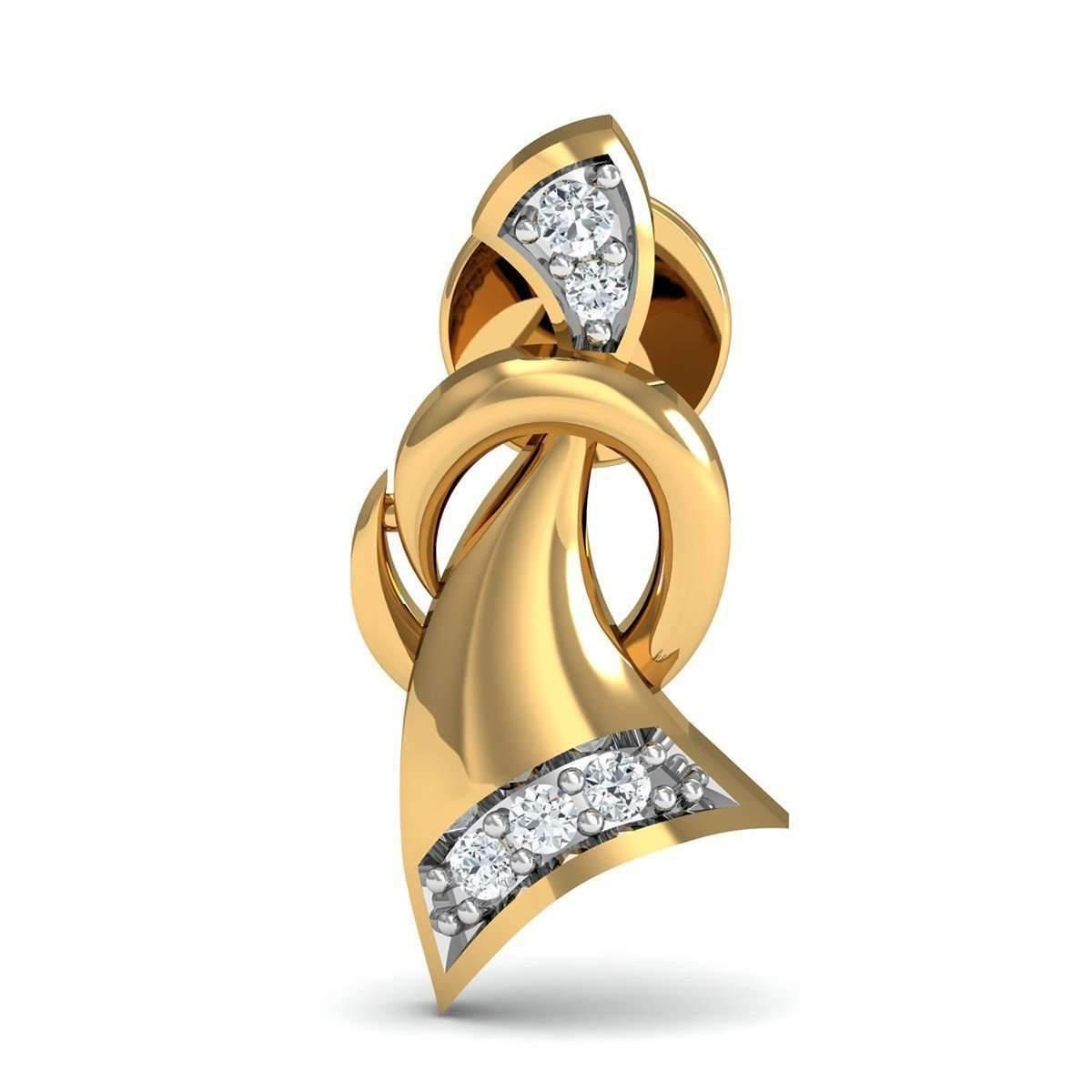 Diamoire Jewels Inspired by Nature Pave Diamond Earrings in 14kt Yellow Gold KUF8S