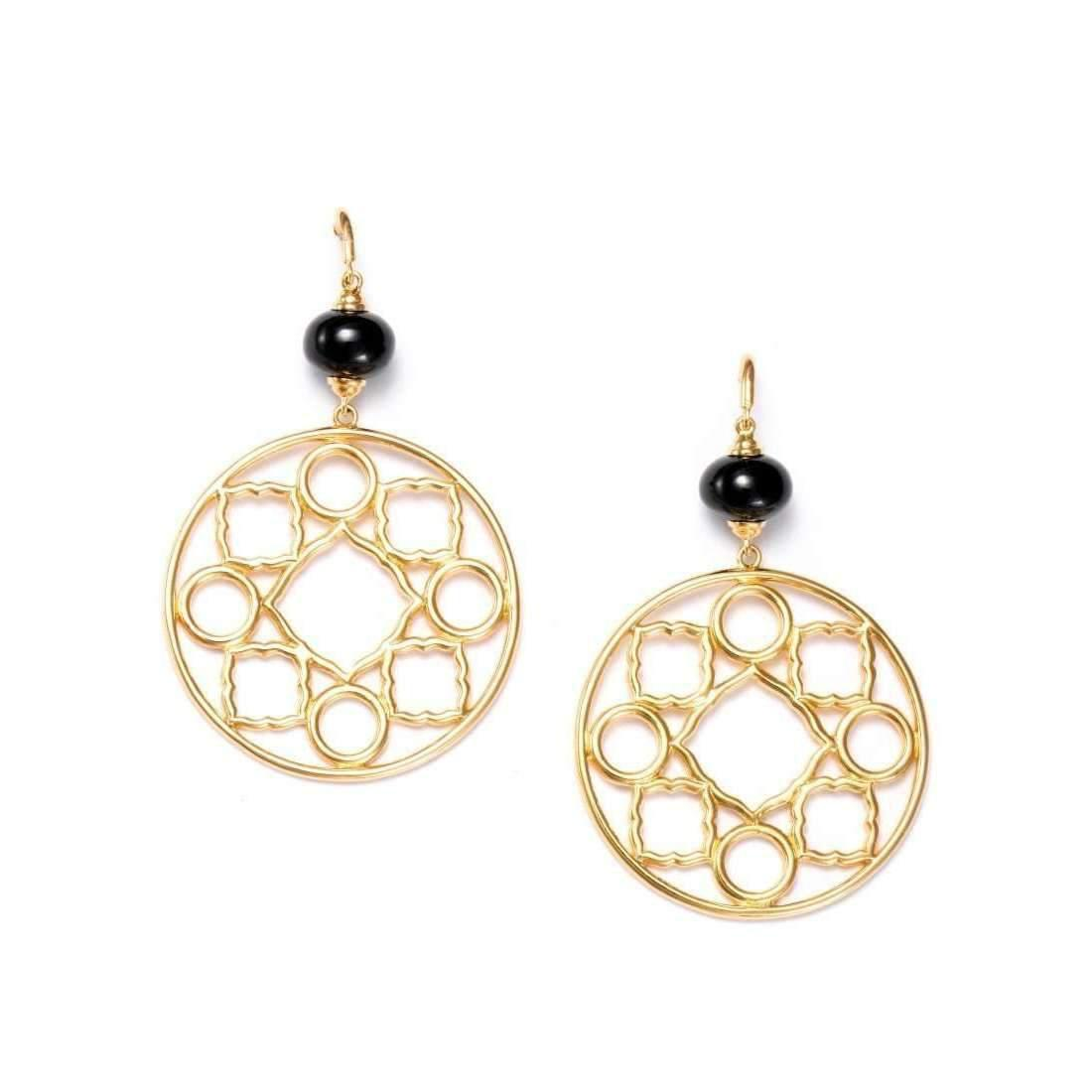 Syna 18kt Mogul Earrings With Black Spinel nQnVZ1K