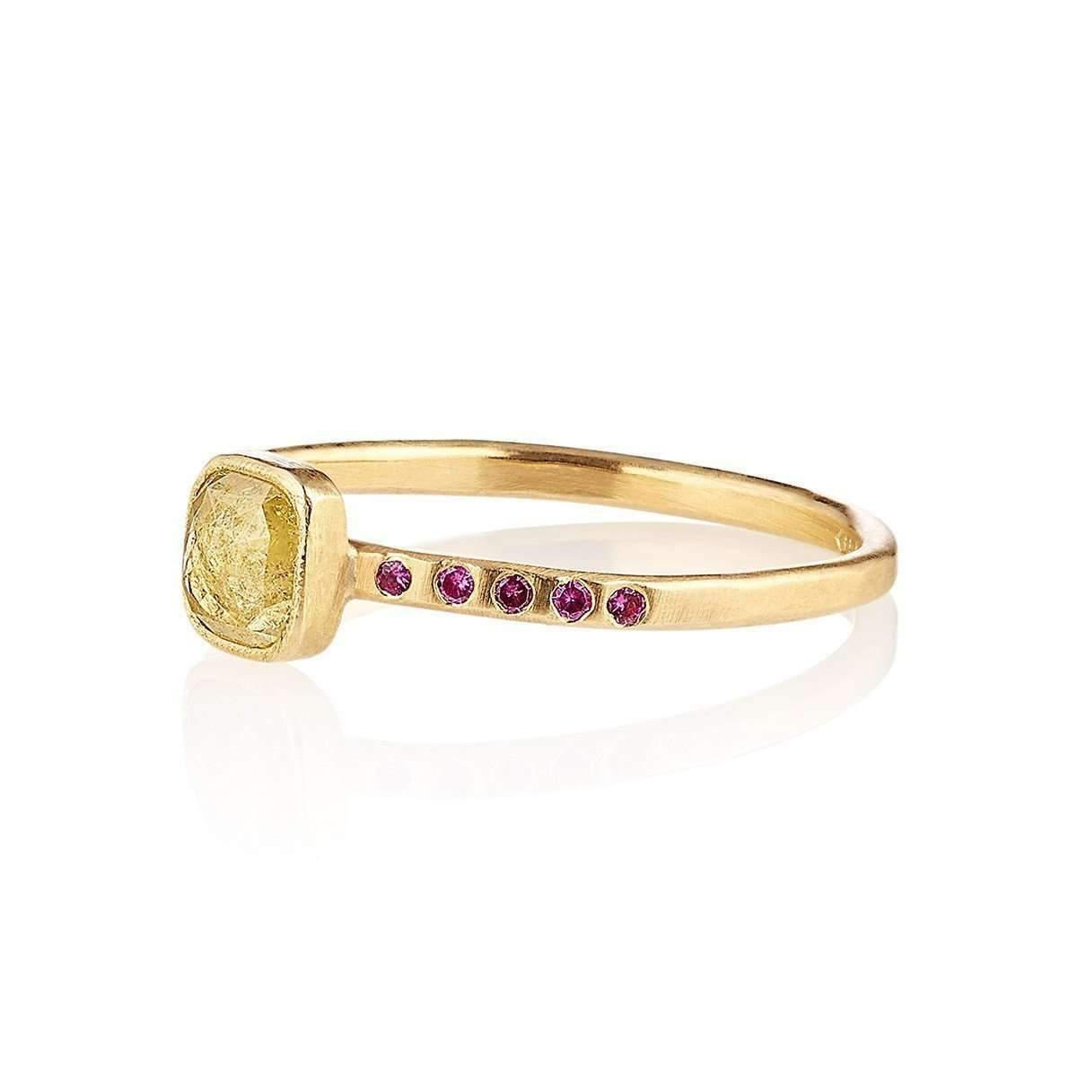 Shakti Ellenwood 18kt Fairtrade Dora Diamond Ring - UK N - US 6 1/2 - EU 54 PhgFYaUOpJ