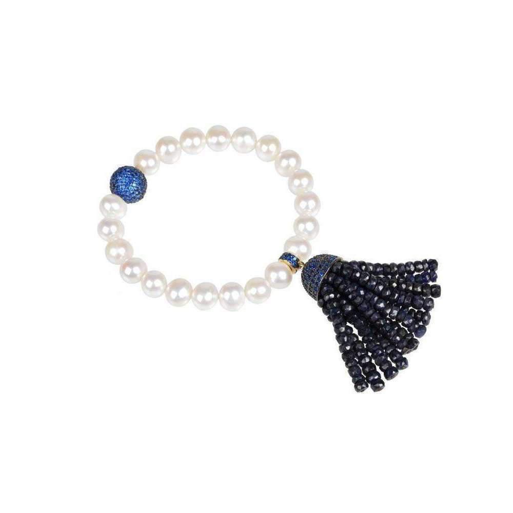 Latelita London Tassel Pearl Bracelet Iolite j16sDqB