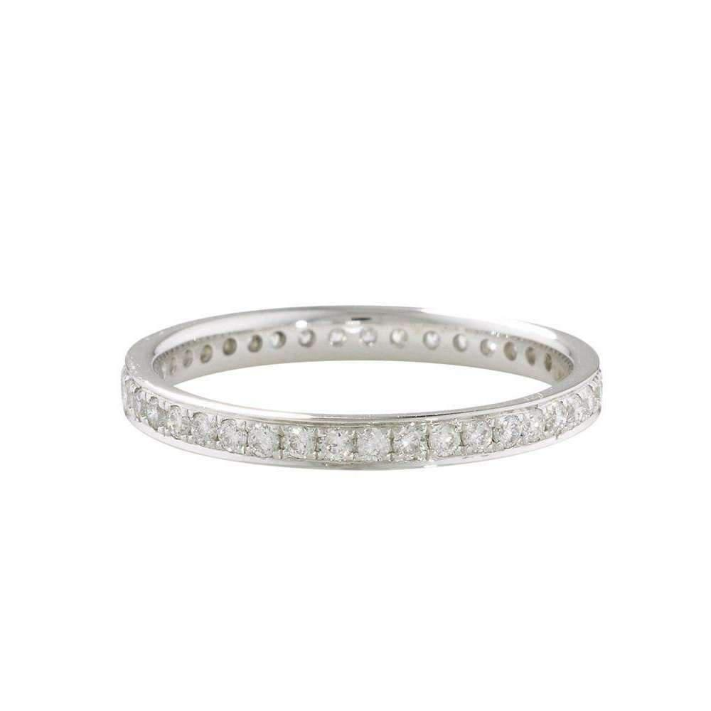 London Road Jewellery Luxury White Diamond Grain Set Stack Ring - UK L - US 5 1/2 - EU 51 3/4 6AFh0L