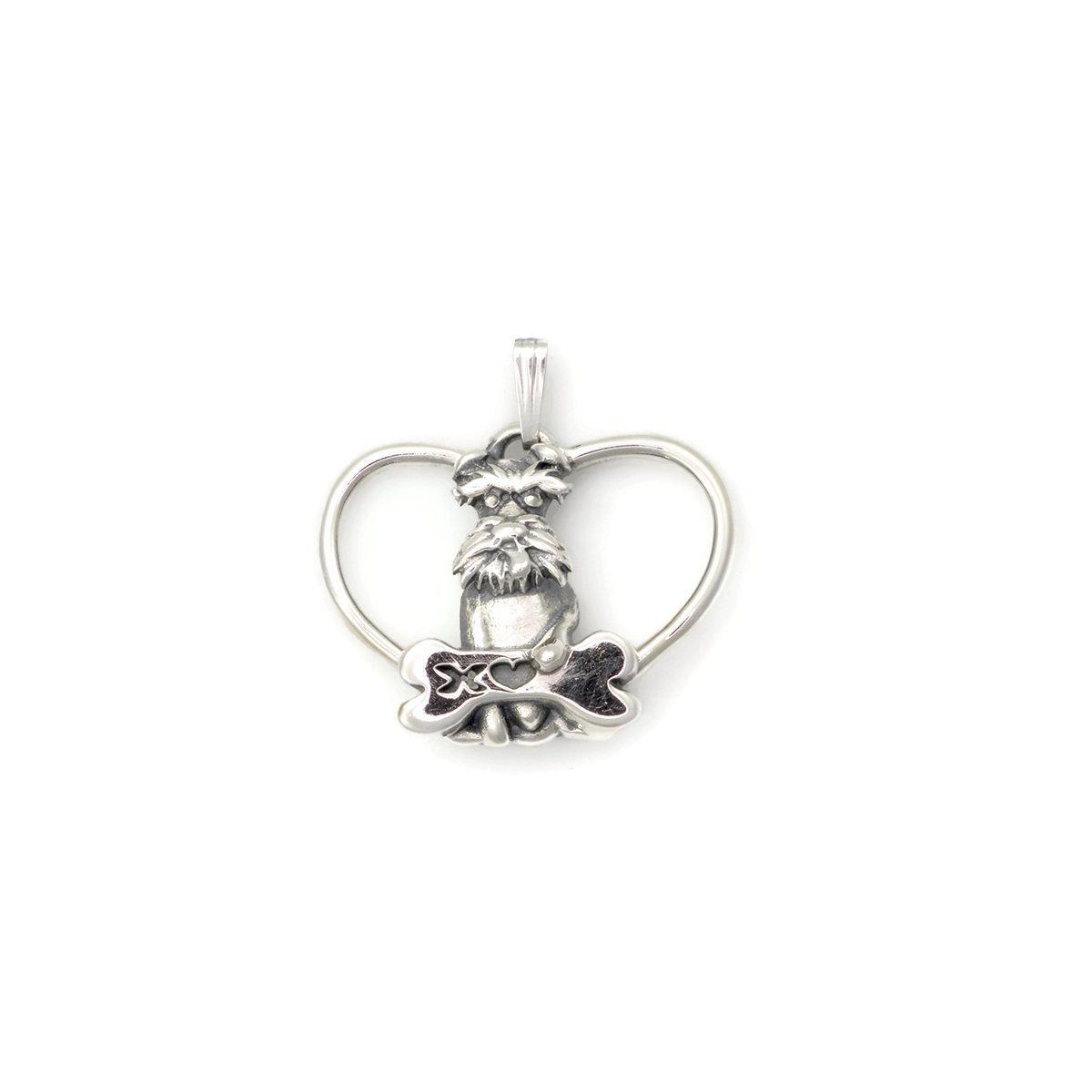 Donna Pizarro Designs Sterling Silver Schnauzer Necklace cZdUAe