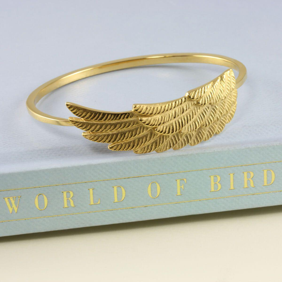 Jana Reinhardt Gold Plated Silver Wing Bangle - 19cm Medium D2bYAgOKBz