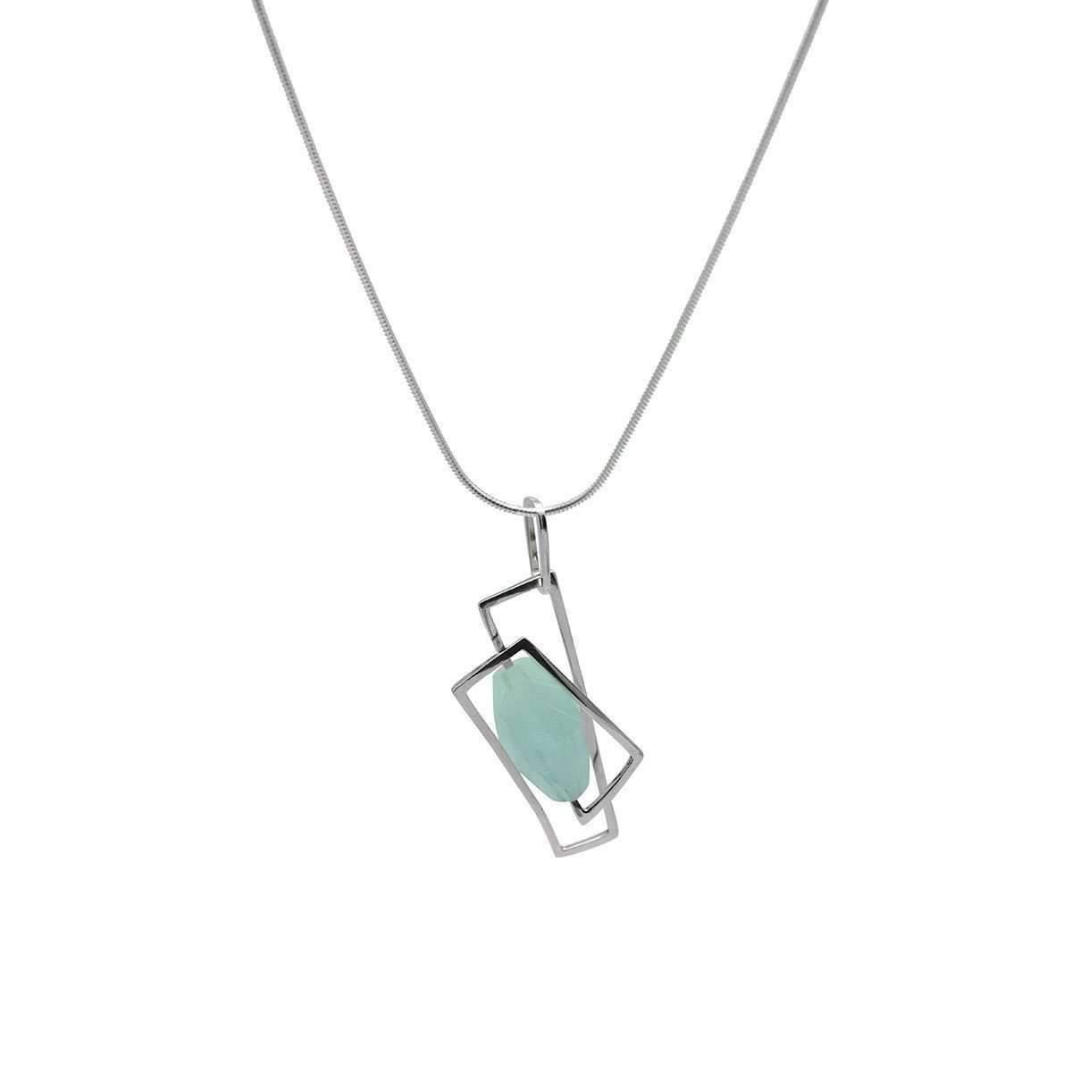 Lyst genna design large component aquamarine pendant in metallic gallery aloadofball Images