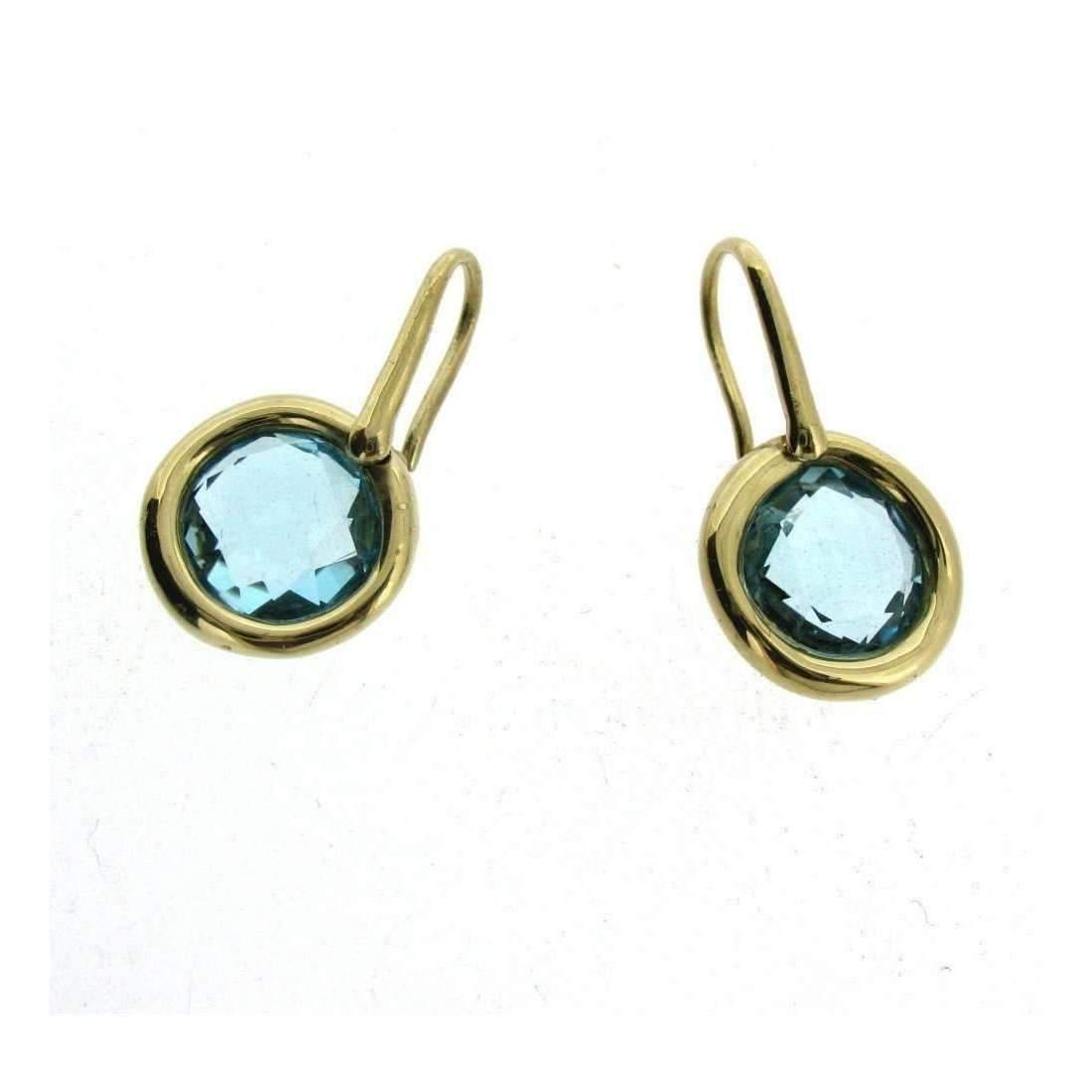 Will Bishop Sterling Silver & Blue Topaz Earrings iavxy