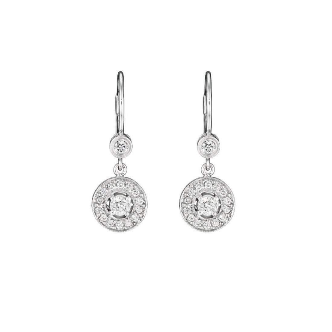 Penny Preville Diamond Pavé Round Earrings on Bezel French eKIZ4dnx3