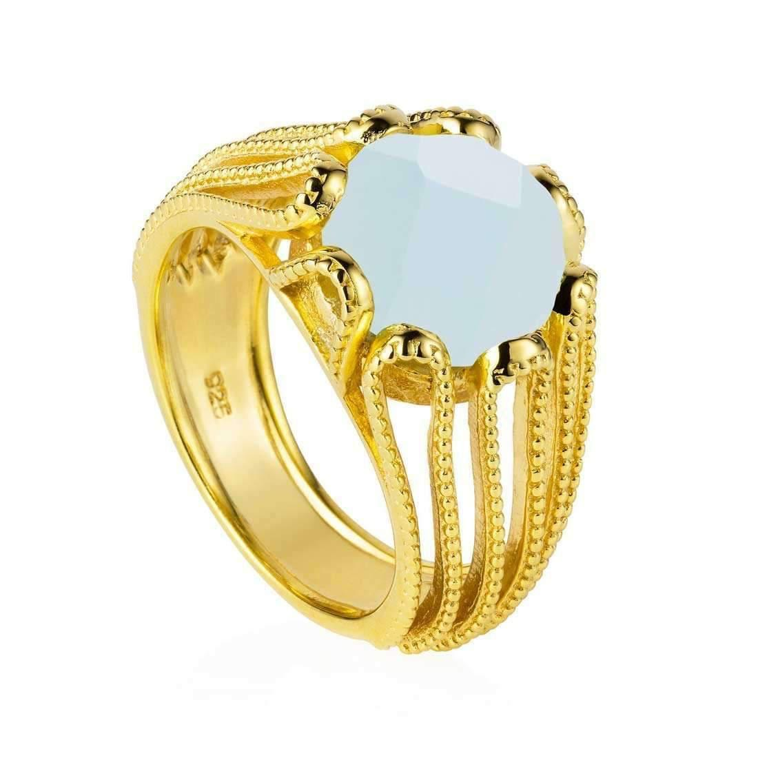 Neola Stacking Gold Ring - UK P - US 7 1/2 - EU 56 1/2 xN7HR