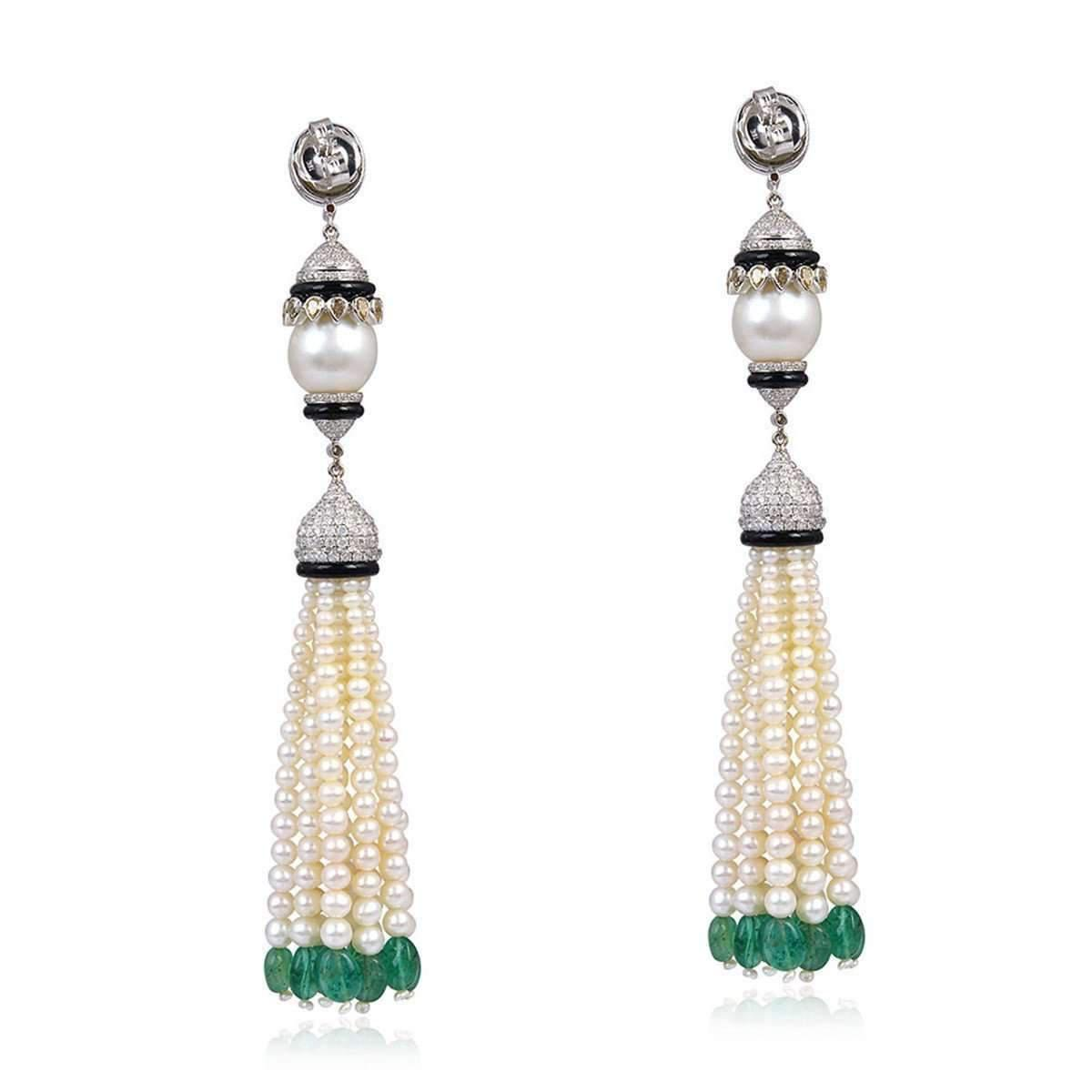 Lyst socheec designer pearl diamond chandelier earrings socheec womens designer pearl diamond chandelier earrings aloadofball Image collections