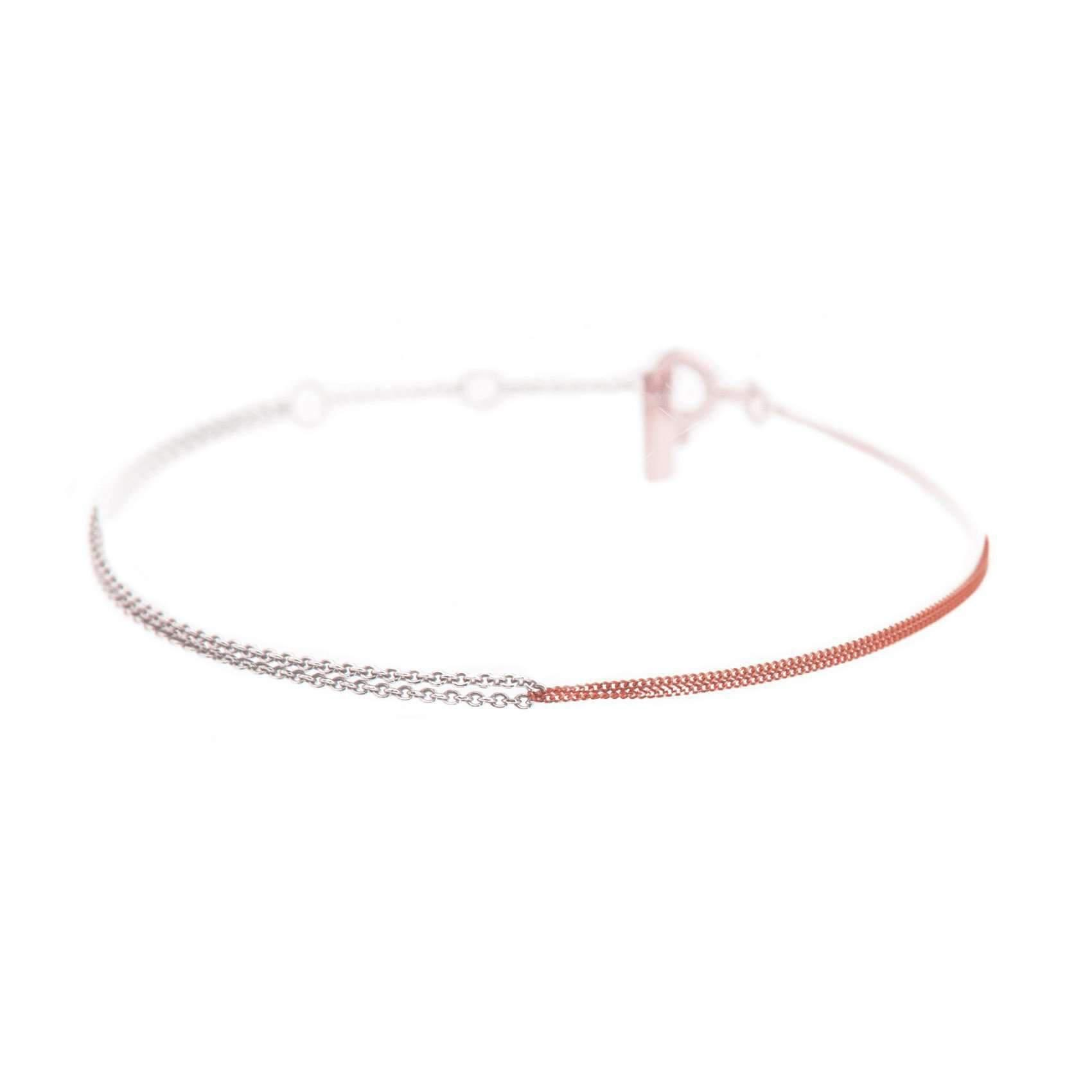Dutch Basics Interlinked Chain Necklace - Silver & Rose GvAmiOx2