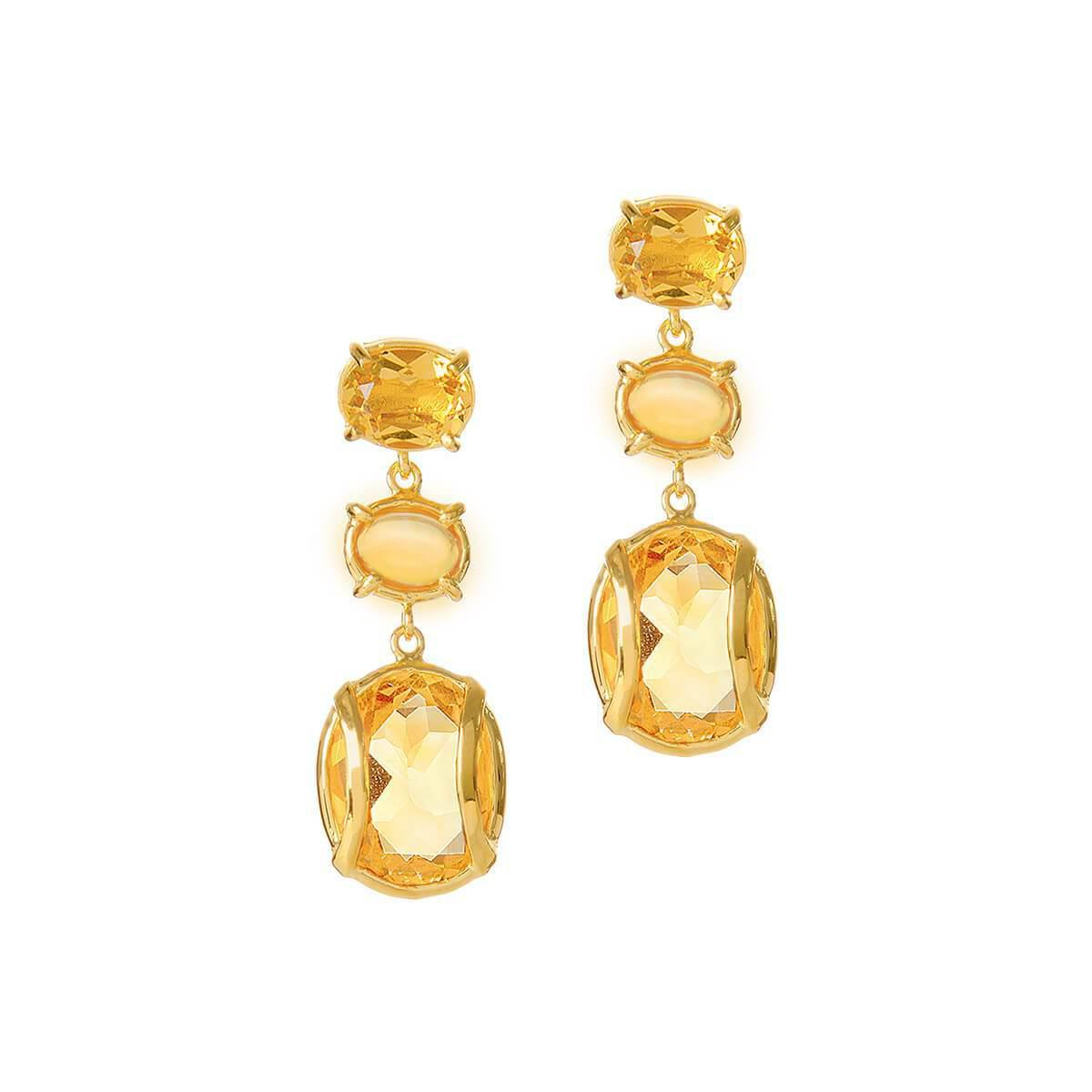 b12dc6add Alexandra Alberta. Women's Metallic Yellow Gold Plated Lexington Earrings  ...