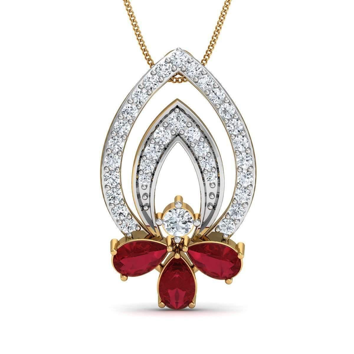 Diamoire Jewels Finest 18kt Yellow Gold and Premium Diamond Pave Set Pendant ZuOt078vxV