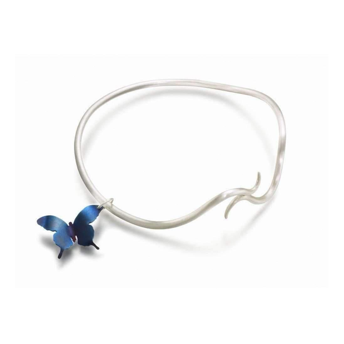 Sian Bostwick Jewellery Forget-Me-Not Charm Bangle - Medium hateXTx