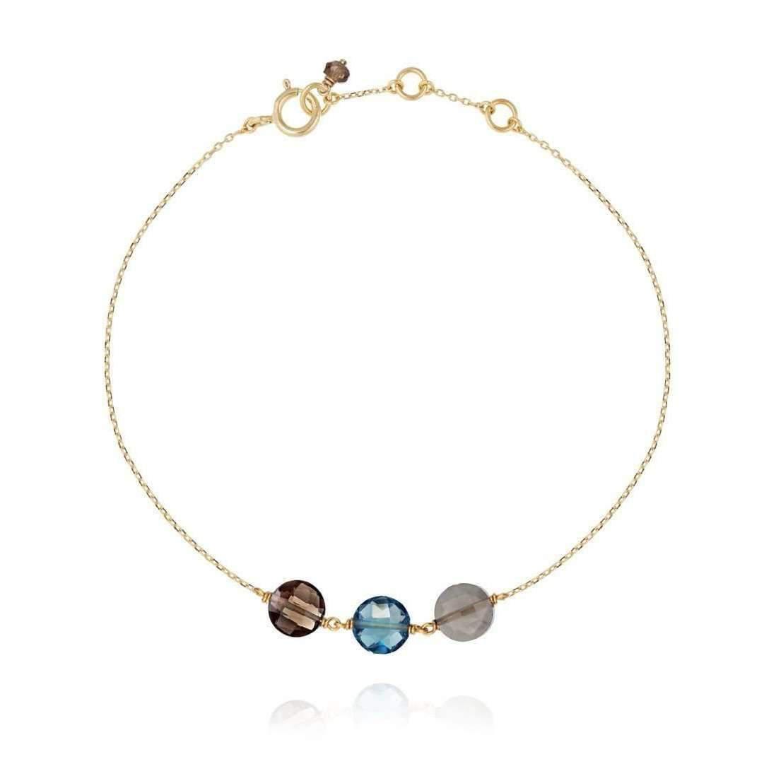 Perle de lune Trio Gemstones Bracelet Blue 18kt Gold NRQNV