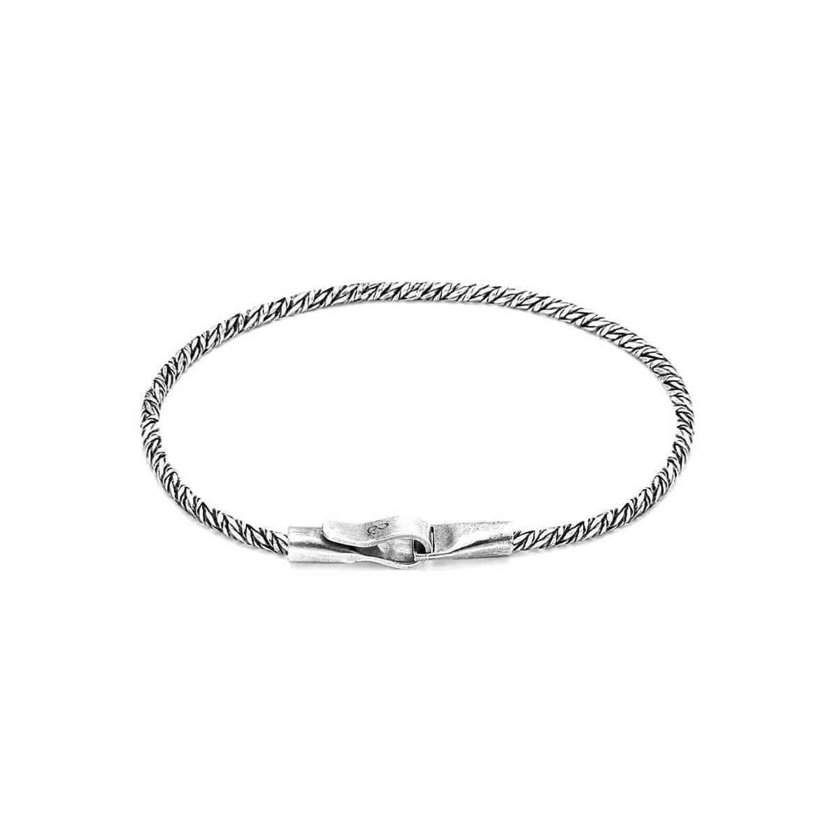 Anchor & Crew Halyard Single Sail Silver Chain Bracelet RdC1gw
