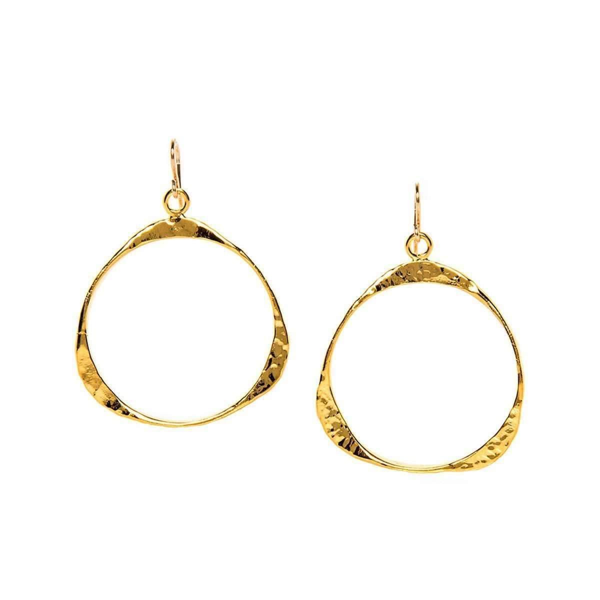 Devon Leigh Hammered Chain Drop Earrings n2uStUas