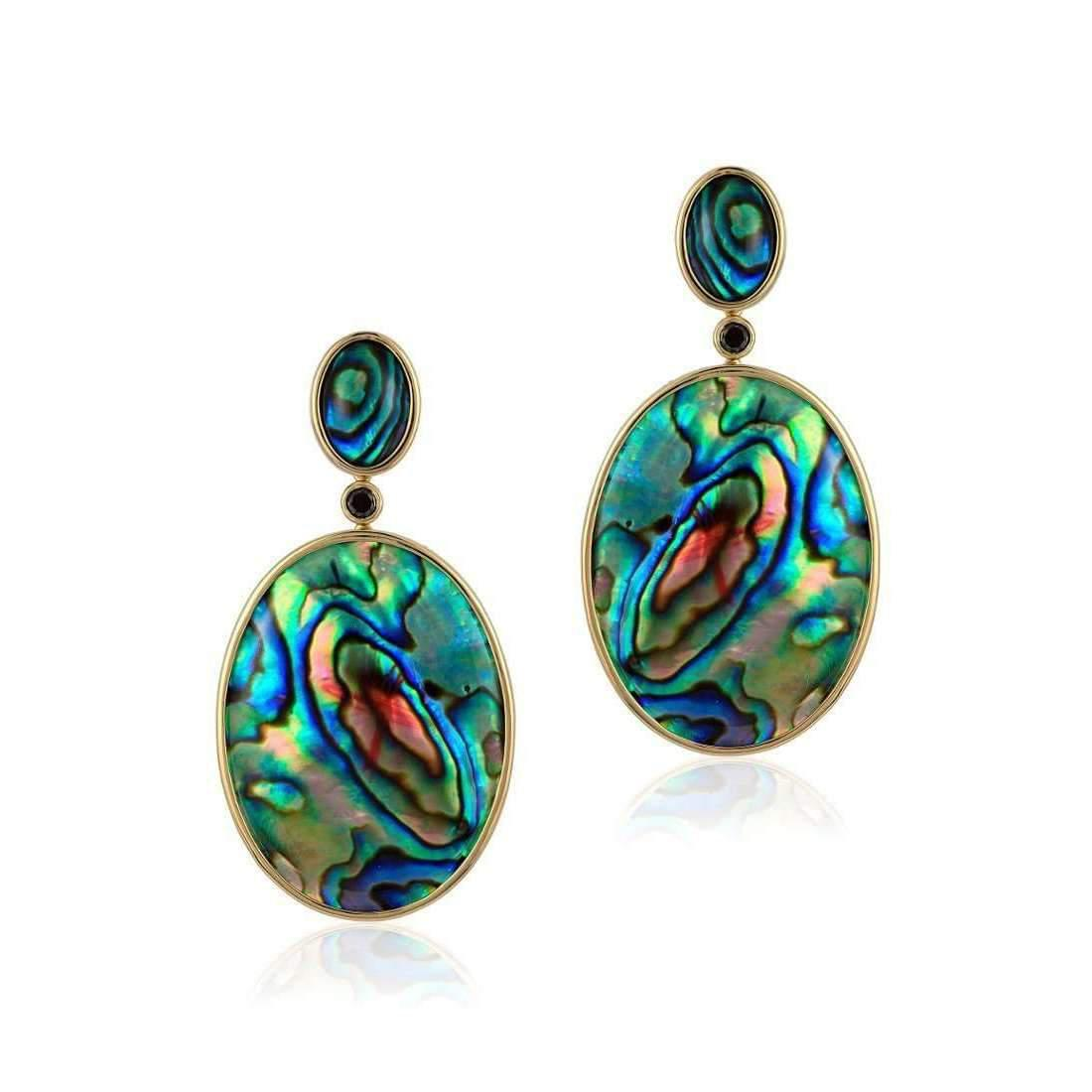 Goshwara Mother Of Pearl Oval Abalone Shell Earrings VZSN1HV