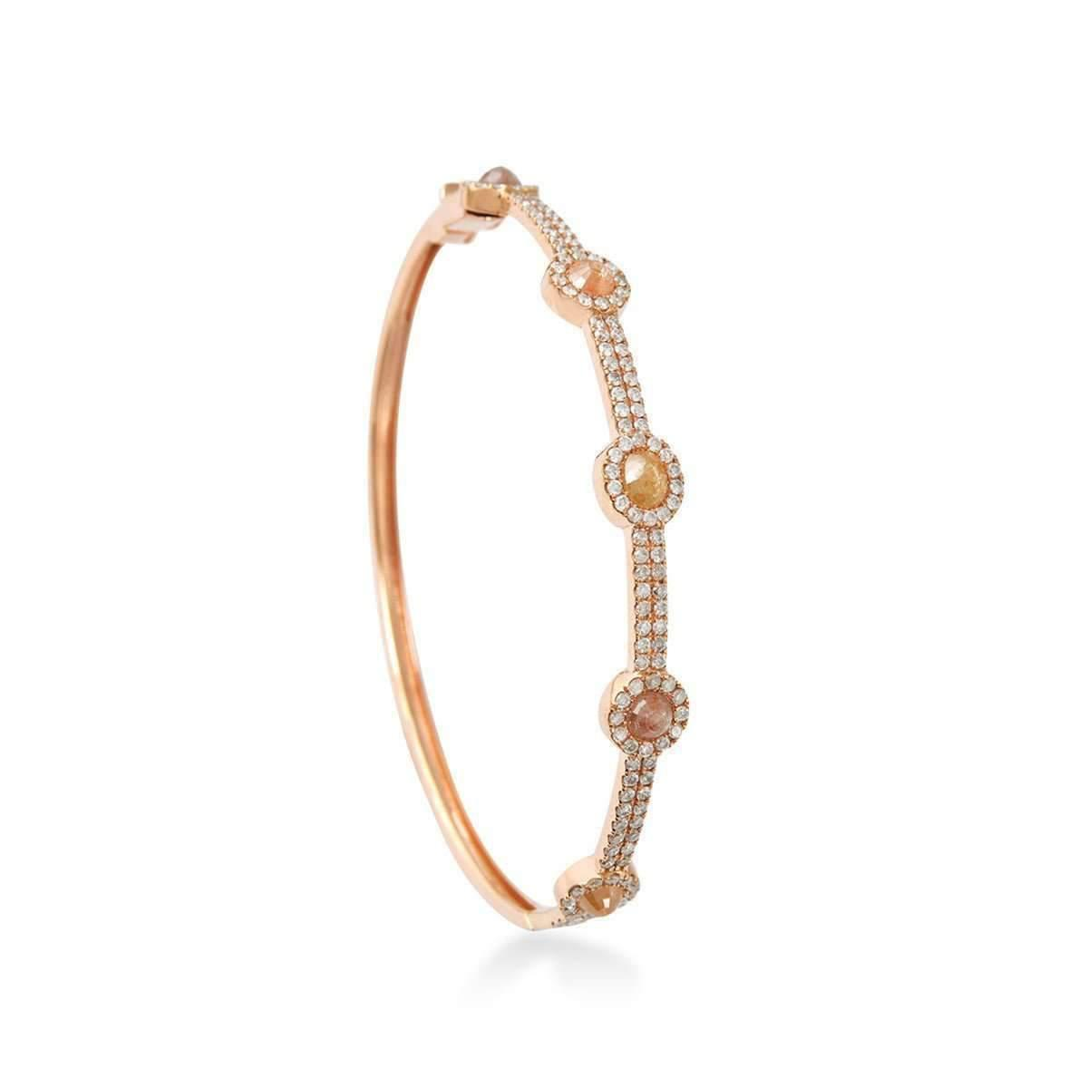 Socheec Gold and Diamond Sphere Bangle KkEvR2qo