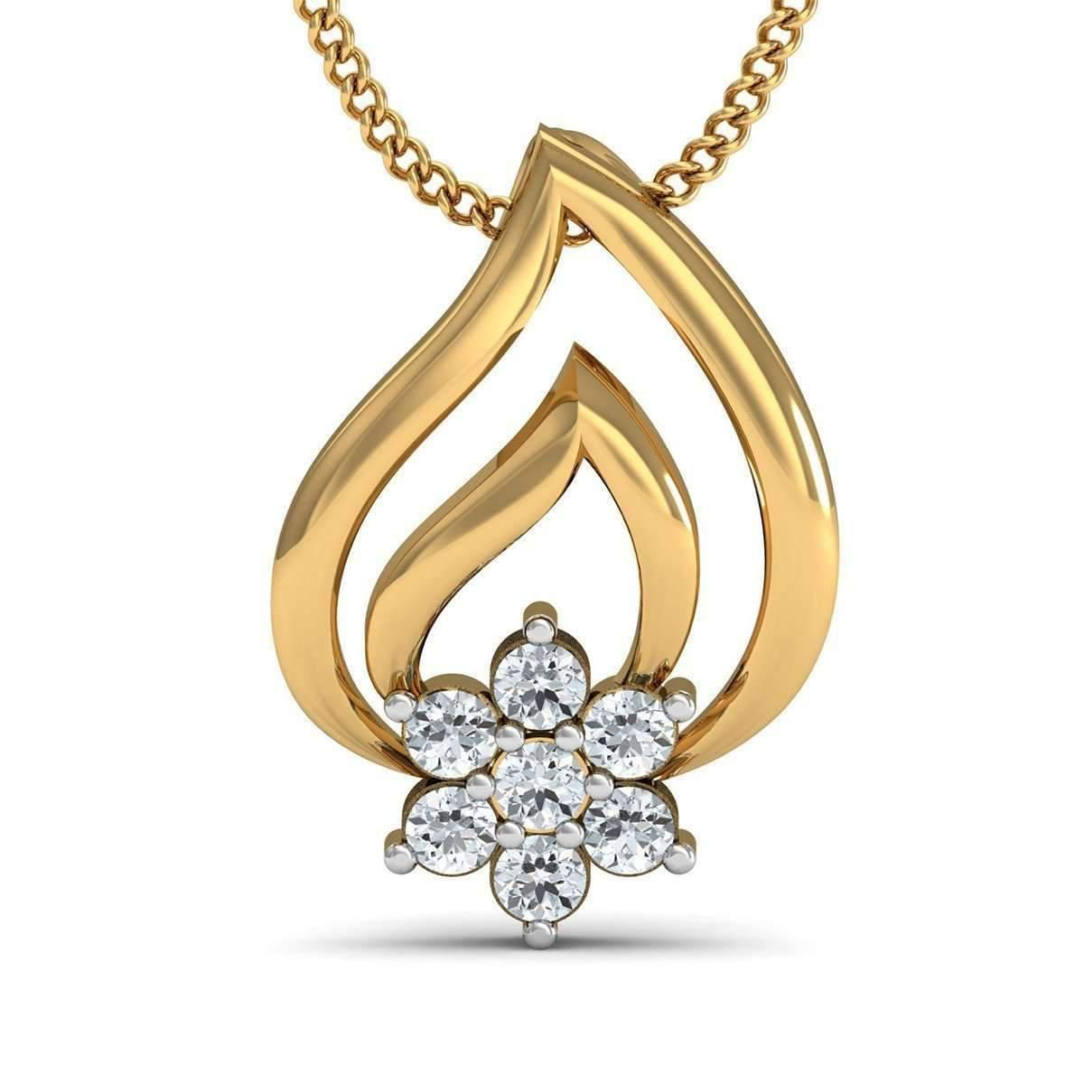 Diamoire Jewels Au-courant Diamond Pave Pendant in 18Kt Yellow Gold HLdWRS