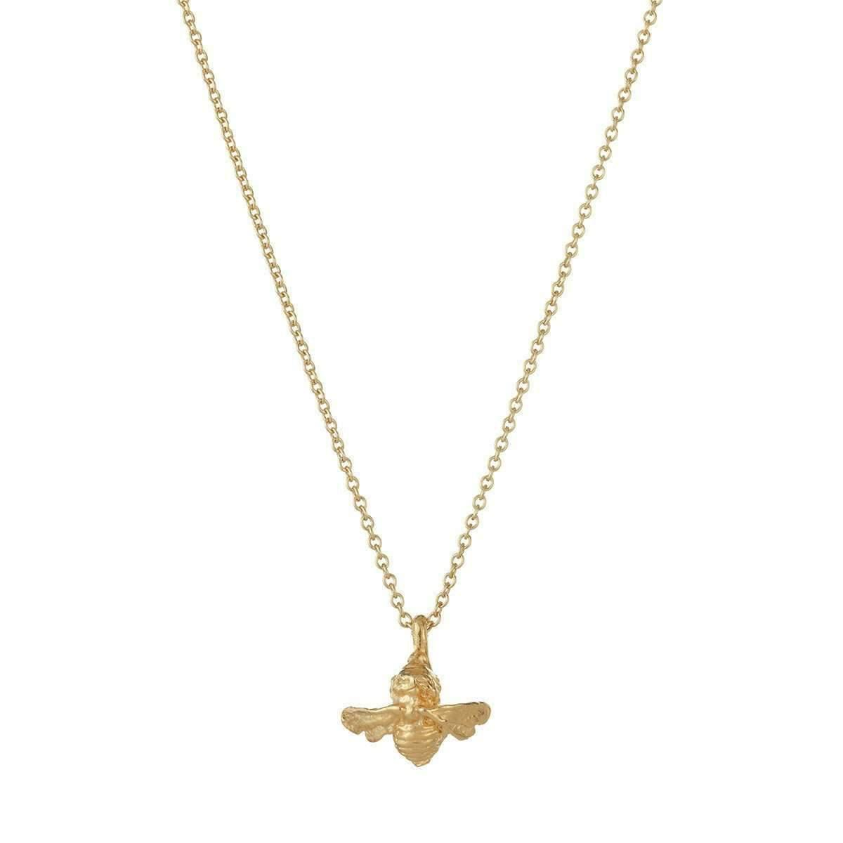 Deborah Blyth Jewellery Gold Bee With White Sapphire Necklace MSLPzN