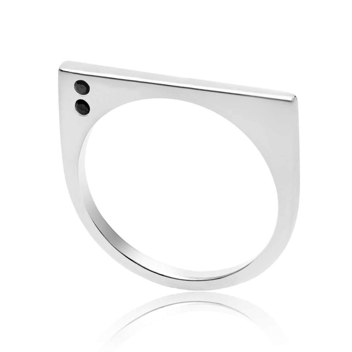 Neola Lunaria Silver Ring - UK P - US 7 1/2 - EU 56 1/2 UXyqS